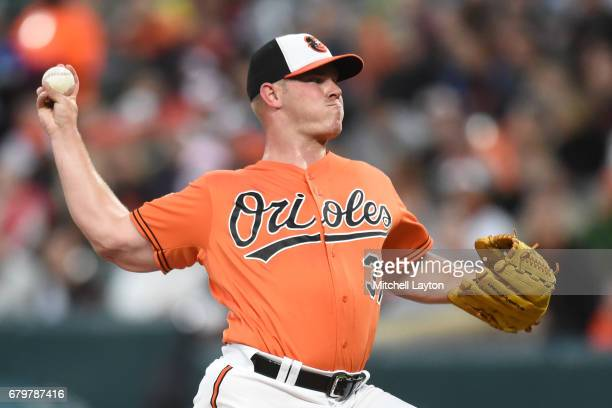Dylan Bundy of the Baltimore Orioles pitches in the first inning during a baseball game against the Chicago White Sox at Oriole Park at Camden Yards...