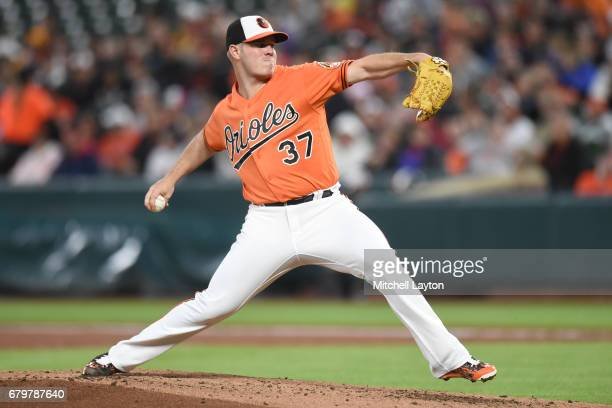 Dylan Bundy of the Baltimore Orioles pitches in the second inning during a baseball game against the Chicago White Sox at Oriole Park at Camden Yards...