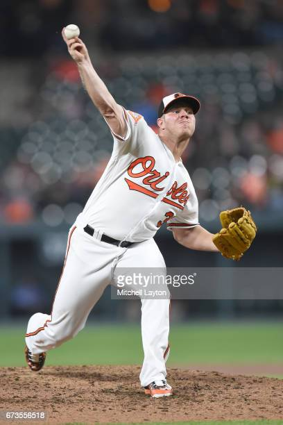 Dylan Bundy of the Baltimore Orioles pitches in the third inning during a baseball game against the Tampa Bay Rays at Oriole Park at Camden Yards on...