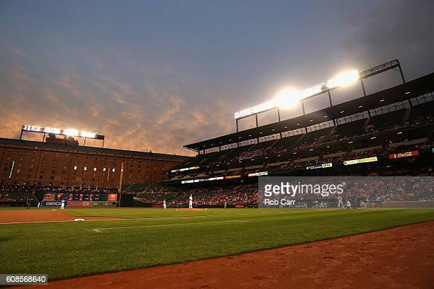 Dylan Bundy of the Baltimore Orioles pitches to a Boston Red Sox batter in the first inning at Oriole Park at Camden Yards on September 19 2016 in...
