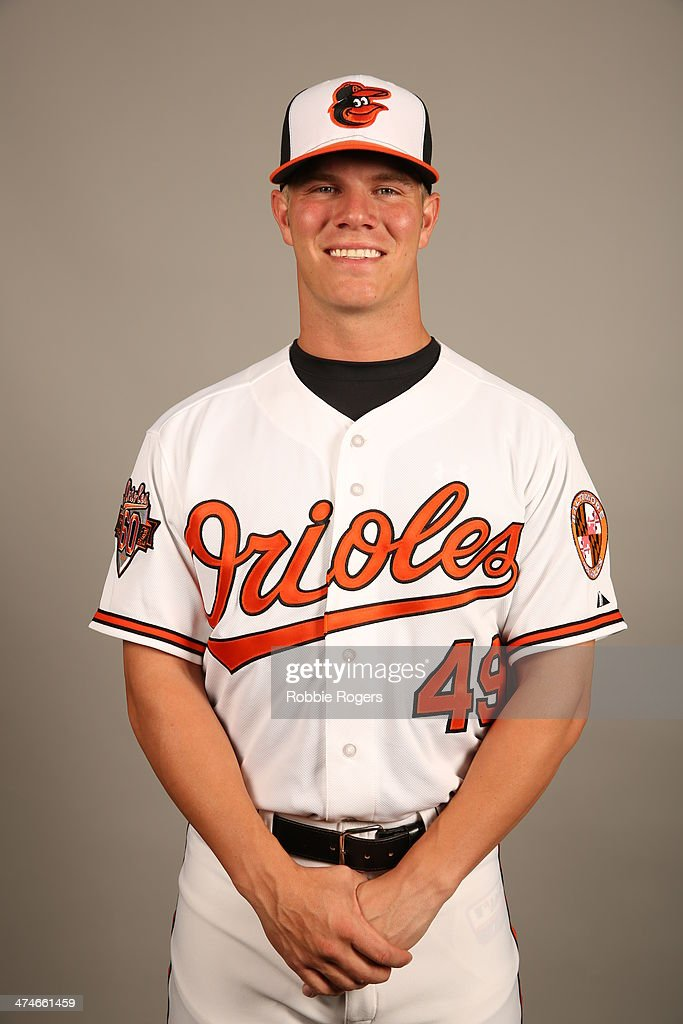 <a gi-track='captionPersonalityLinkClicked' href=/galleries/search?phrase=Dylan+Bundy&family=editorial&specificpeople=7948654 ng-click='$event.stopPropagation()'>Dylan Bundy</a> #49 of the Baltimore Orioles poses during Photo Day on Saturday, February 22, 2014 at Ed Smith Stadium in Sarasota, Florida.