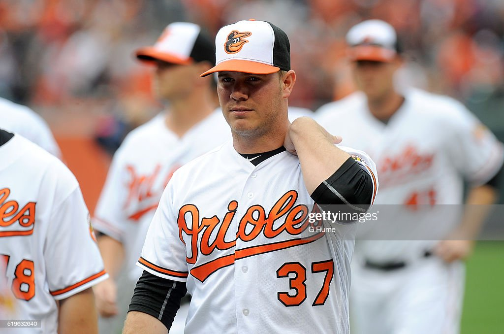 <a gi-track='captionPersonalityLinkClicked' href=/galleries/search?phrase=Dylan+Bundy&family=editorial&specificpeople=7948654 ng-click='$event.stopPropagation()'>Dylan Bundy</a> #37 of the Baltimore Orioles walks to the dugout before the game against the Minnesota Twins at Oriole Park at Camden Yards on April 4, 2016 in Baltimore, Maryland.