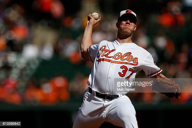 Dylan Bundy of the Baltimore Orioles works in the second inning against the Arizona Diamondbacks at Oriole Park at Camden Yards on September 25 2016...