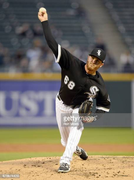 Dylan Covey of the Chicago White Sox pitches against the Kansas City Royals on April 25 2017 at Guaranteed Rate Field in Chicago Illinois The White...