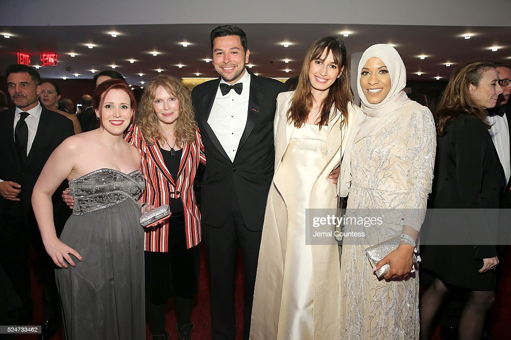 Dylan Farrow, <a gi-track='captionPersonalityLinkClicked' href=/galleries/search?phrase=Mia+Farrow&family=editorial&specificpeople=93764 ng-click='$event.stopPropagation()'>Mia Farrow</a>, Ayman Mohyeldin and <a gi-track='captionPersonalityLinkClicked' href=/galleries/search?phrase=Ibtihaj+Muhammad&family=editorial&specificpeople=8533927 ng-click='$event.stopPropagation()'>Ibtihaj Muhammad</a> attend 2016 Time 100 Gala, Time's Most Influential People In The World - Cocktails at Jazz At Lincoln Center at the Times Warner Center on April 26, 2016 in New York City.