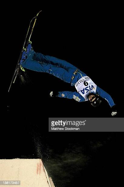 Dylan Ferguson competes in the Men's Aerials during the Visa Freestyle International FIS Freestyle World Cup at Deer Valley on February 3 2012 in...