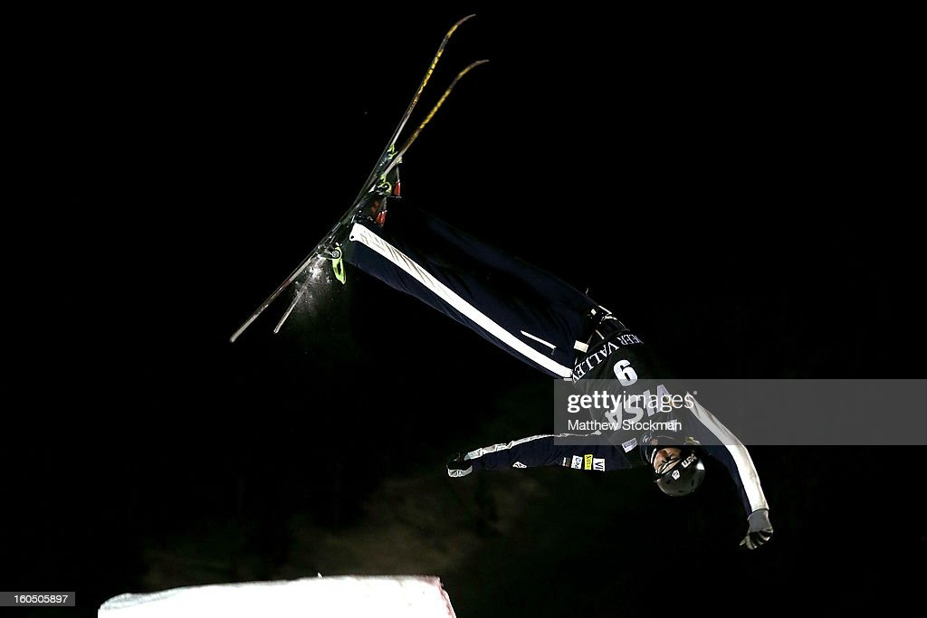 Dylan Ferguson #9 competes in the Mens Aerials during the Visa Freestyle International at Deer Valley on February 1, 2013 in Park City, Utah.