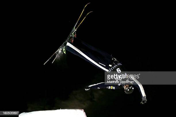 Dylan Ferguson competes in the Mens Aerials during the Visa Freestyle International at Deer Valley on February 1 2013 in Park City Utah
