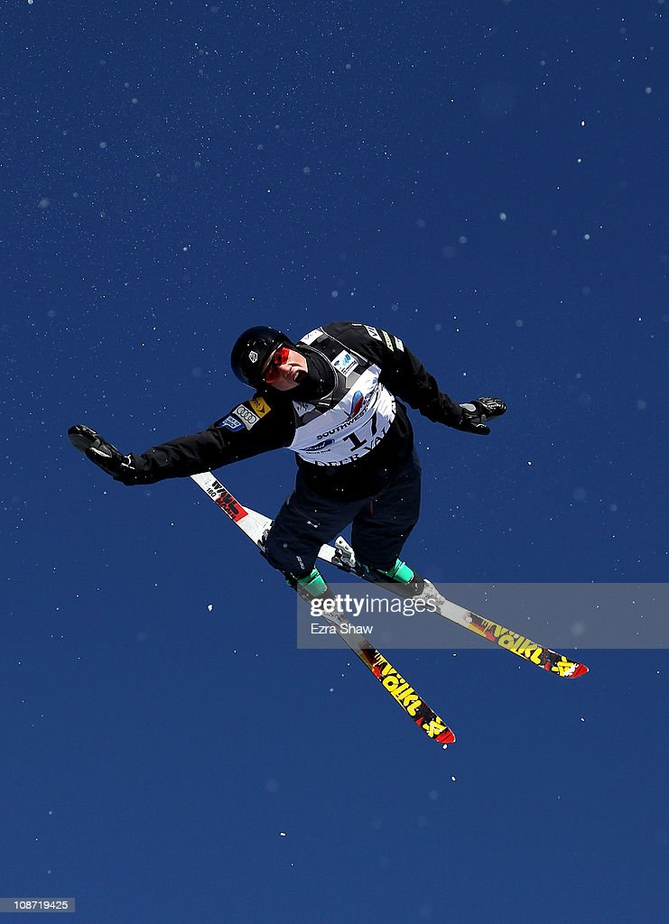 <a gi-track='captionPersonalityLinkClicked' href=/galleries/search?phrase=Dylan+Ferguson&family=editorial&specificpeople=2524622 ng-click='$event.stopPropagation()'>Dylan Ferguson</a> of the USA jumps during a aerial training session for the FIS Freestyle World Ski Championships at Deer Valley Resort on February 1, 2011 in Park City, Utah. The FIS Freestyle World Ski Championships will inlcude moguls, dual moguls, aerials, skicross, halfpipe skiing and slopestyle skiing.