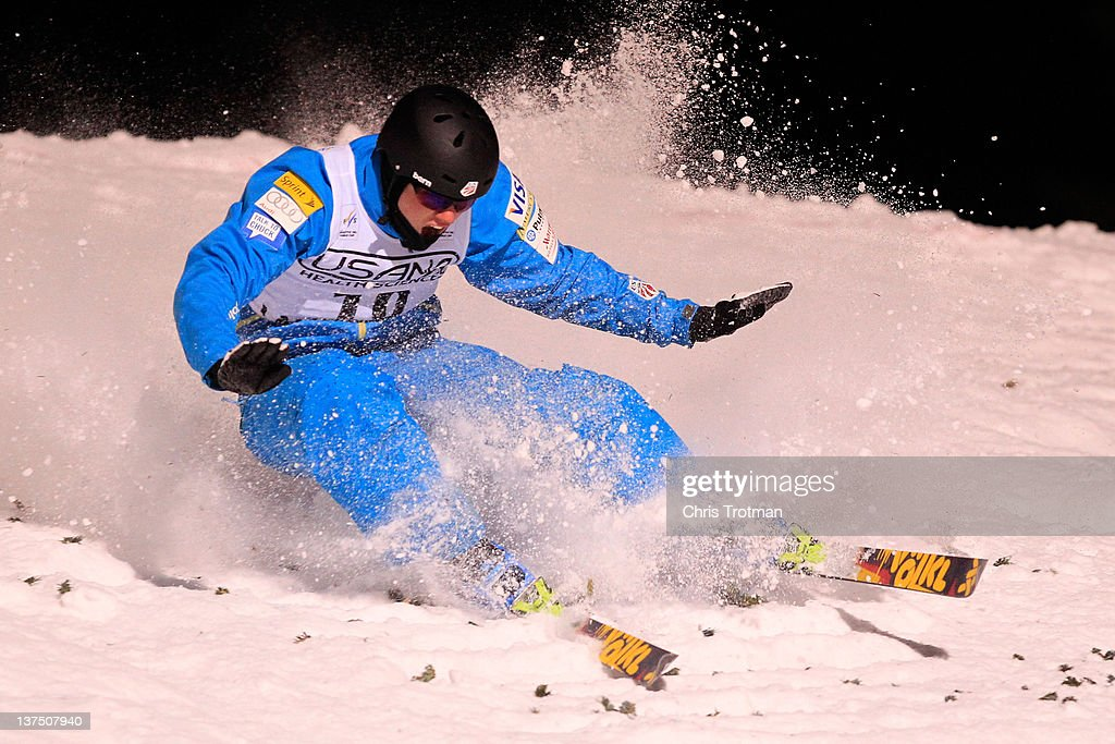 <a gi-track='captionPersonalityLinkClicked' href=/galleries/search?phrase=Dylan+Ferguson&family=editorial&specificpeople=2524622 ng-click='$event.stopPropagation()'>Dylan Ferguson</a> of the USA lands a jump in the Men's Aerials event at the USANA Lake Placid FIS Freestyle Ski World Cup on January 21, 2012 in Lake Placid, New York.