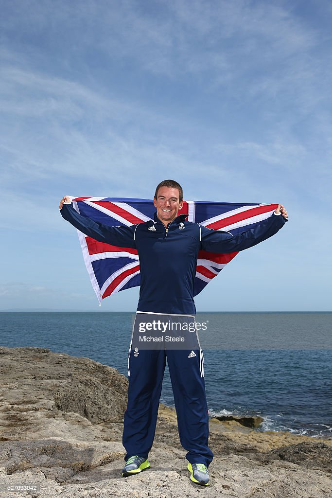 Dylan Fletcher (49er Men's Class) of Team GB poses during a Team GB Sailing Announcement for the Rio 2016 Olympic Games at Portland Bill on May 3, 2016 in Weymouth, England.