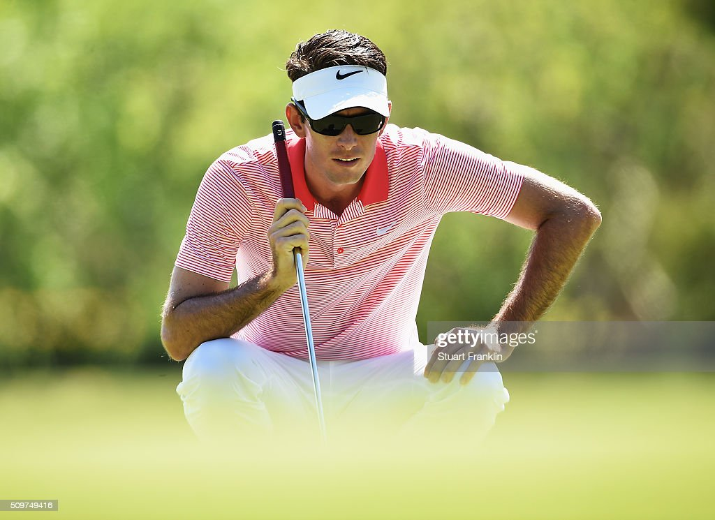 Dylan Frittelli of USA lines up a putt during the second round of the Tshwane Open at Pretoria Country Club on February 12, 2016 in Pretoria, South Africa.