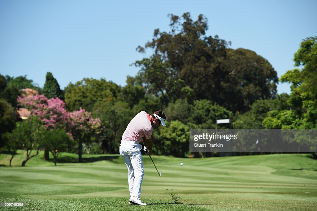 Dylan Frittelli of USA plays a shot during the second round of the Tshwane Open at Pretoria Country Club on February 12, 2016 in Pretoria, South Africa.