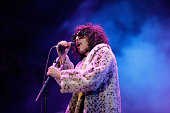 Dylan Frost of Sticky Fingers performs during Splendour in the Grass 2016 on July 23 2016 in Byron Bay Australia