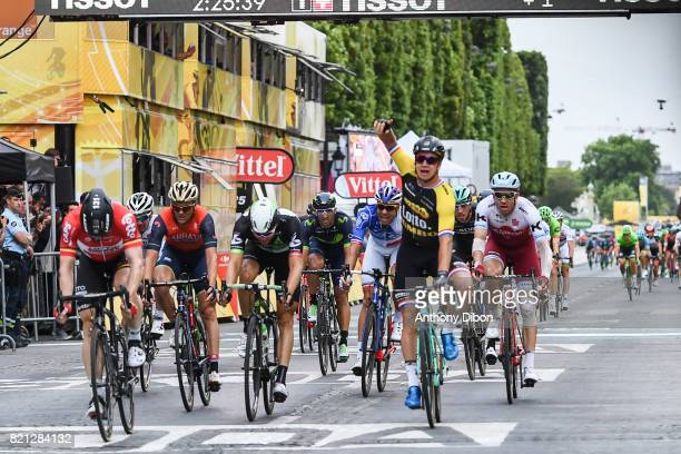 Dylan Groenewegen of Lotto Jumbo during the stage 21 from Montgeron to Paris at Avenue Des Champs Elysees on July 23 2017 in Paris France