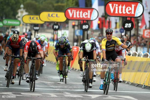 Dylan Groenewegen of Netherlands riding for Team Lotto NLJumbo sprints to win during stage 21 of the 2017 Le Tour de France a 103km stage from...