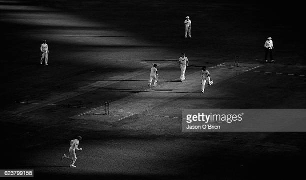 Dylan Hartley goes through for a single during day one of the Sheffield Shield match between Queensland and South Australia at The Gabba on November...