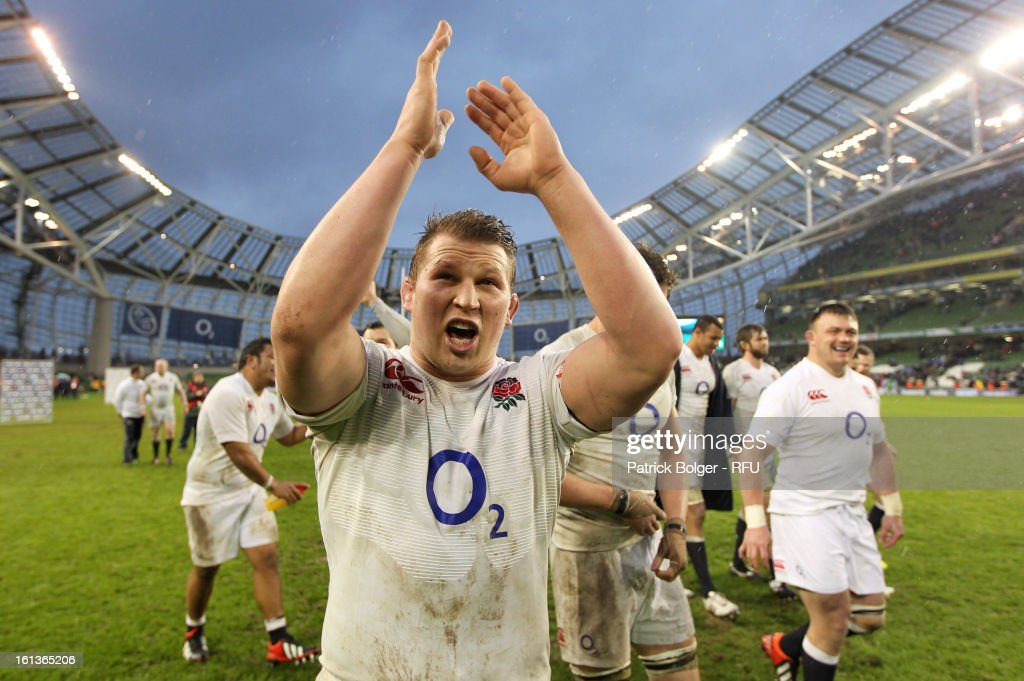 <a gi-track='captionPersonalityLinkClicked' href=/galleries/search?phrase=Dylan+Hartley&family=editorial&specificpeople=764177 ng-click='$event.stopPropagation()'>Dylan Hartley</a> of England celebrates victory over Ireland in the RBS Six Nations match between Ireland and England at Aviva Stadium on February 10, 2013 in Dublin, Ireland.