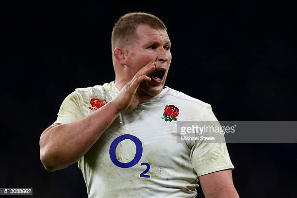 Dylan Hartley of England in action during the RBS Six Nations match between England and Ireland at Twickenham Stadium on February 27 2016 in London...