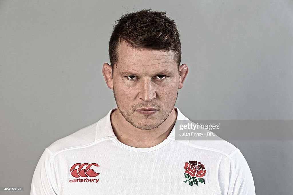 <a gi-track='captionPersonalityLinkClicked' href=/galleries/search?phrase=Dylan+Hartley&family=editorial&specificpeople=764177 ng-click='$event.stopPropagation()'>Dylan Hartley</a> of England poses for a portrait during the England Six Nations Squad Photo Call at the Penny Hill Hotel on January 20, 2014 in Bagshot, England.