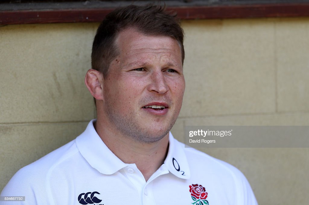 <a gi-track='captionPersonalityLinkClicked' href=/galleries/search?phrase=Dylan+Hartley&family=editorial&specificpeople=764177 ng-click='$event.stopPropagation()'>Dylan Hartley</a>, the England captain, faces the media during the England media session held at Pennyhill Park on May 27, 2016 in Bagshot, England.