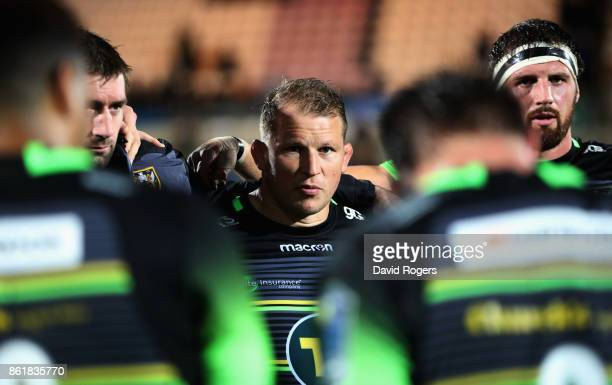Dylan Hartley the Northampton Saints captain looks on after their 1357 defeat during the European Rugby Champions Cup match between Northampton...