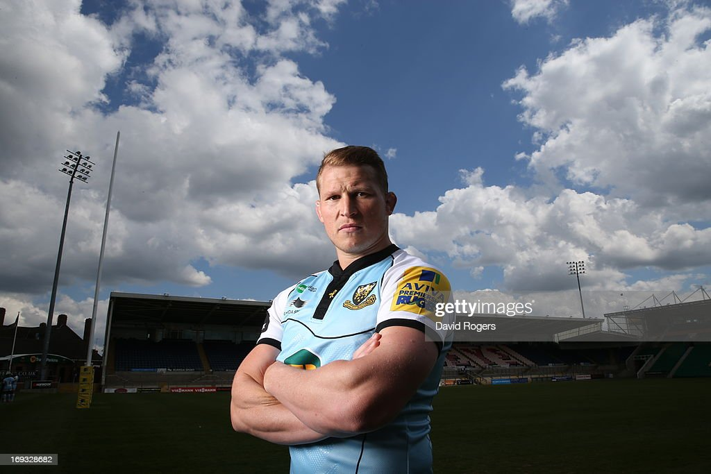 <a gi-track='captionPersonalityLinkClicked' href=/galleries/search?phrase=Dylan+Hartley&family=editorial&specificpeople=764177 ng-click='$event.stopPropagation()'>Dylan Hartley</a>, the Northampton Saints captain poses on May 16, 2013 at Franklin's Gardens in Northampton, England.