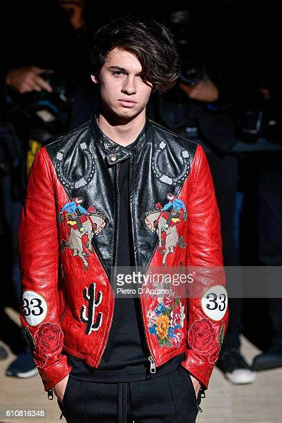 Dylan Jagger Lee attends the Dolce And Gabbana show during Milan Fashion Week Spring/Summer 2017 on September 25 2016 in Milan Italy