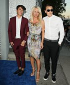 Dylan Jagger Lee Pamela Anderson and Brandon Thomas Lee attend The Hidden Heroes Gala presented by Mercy For Animals at Unici Casa on August 29 2015...