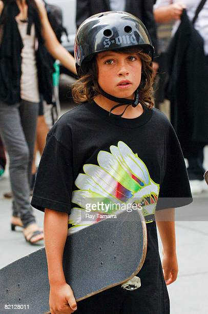 Dylan Jagger Lee walks in Midtown Manhattan on July 30 2008 in New York City