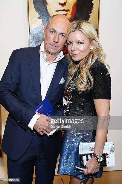 Dylan Jones and Fru Tholstrup attend as Tommy Hilfiger and Jeffrey Deitch present 'Rock Style' at the S2 Gallery during London Fashion Week...