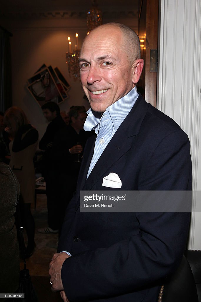 Dylan Jones attends a party to launch the book 'Speed of Life,' containing photographs of David Bowie, by Masayoshi Sukita at the Arts Club on May 8, 2012 in Dover St, London.
