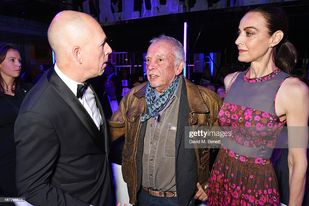 Dylan Jones David Bailey and Catherine Bailey attend the GQ Men Of The Year Awards at The Royal Opera House on September 8 2015 in London England