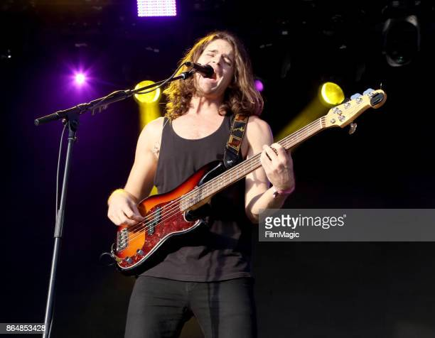 Dylan Kongos of Kongos performs at Piestewa Stage during day 2 of the 2017 Lost Lake Festival on October 21 2017 in Phoenix Arizona