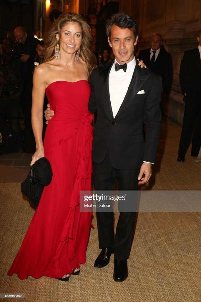 Dylan Lauren and Andrew Lauren arrive at a Ralph Lauren Collection Show and private dinner at Les Beaux-Arts de Paris on October 9, 2013 in Paris, France. On this occasion Ralph Lauren celebrates the restoration project and patron sponsorship of L'Ecole des Beaux-Arts.
