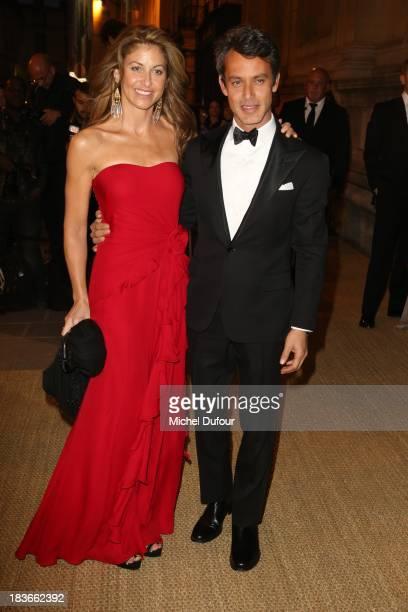 Dylan Lauren and Andrew Lauren arrive at a Ralph Lauren Collection Show and private dinner at Les BeauxArts de Paris on October 9 2013 in Paris...
