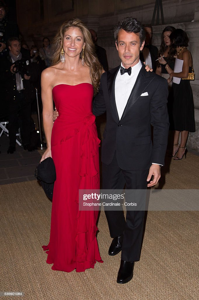 Dylan Lauren and Andrew Lauren arrive at a Ralph Lauren Collection Show and private dinner at Les Beaux-Arts de Paris on October 8, 2013 in Paris, France. On this occasion Ralph Lauren celebrates the restoration project and patron sponsorship of 'L'Ecole des Beaux-Arts'.