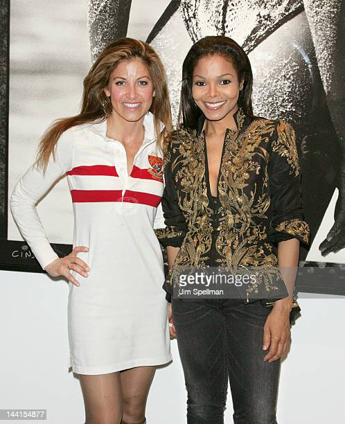 Dylan Lauren and Janet Jackson attend the Marco Glaviano 'Supermodels' exhibition opening at the Keszler Gallery on May 10 2012 in New York City