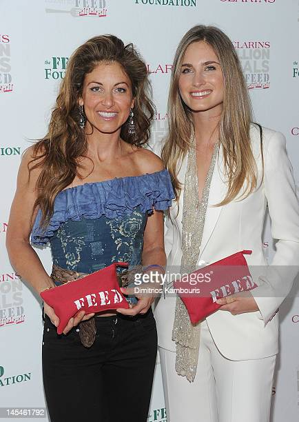 Dylan Lauren and Lauren Bush Lauren attend the 2012 Clarins Million Meals Concert For FEED at Alice Tully Hall Lincoln Center on May 30 2012 in New...