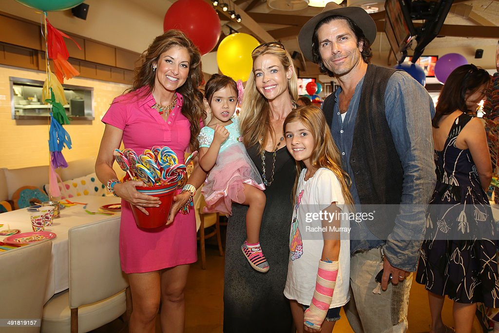 Dylan Lauren, Denise Richards and Greg Lauren attend Dylan's Candy Bar Candy Girl Collection LA Launch Event at Dylan's Candy Bar on May 17, 2014 in Los Angeles, California.