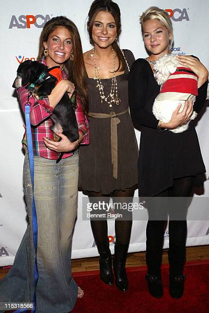 Dylan Lauren Maria Menounos and Alison Kelly during ASPCA's Young Friends Horse 'n Around Benefit October 12 2006 at Lotus Space in New York City New...