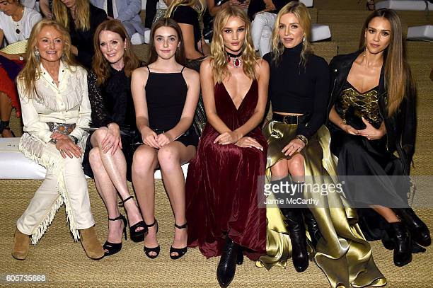 Dylan Lauren Ricky Lauren Haley Bennett Julianne Moore Liv Freundlich Rosie HuntingtonWhitely Annabelle Wallis and Jessica Alba attend the Ralph...