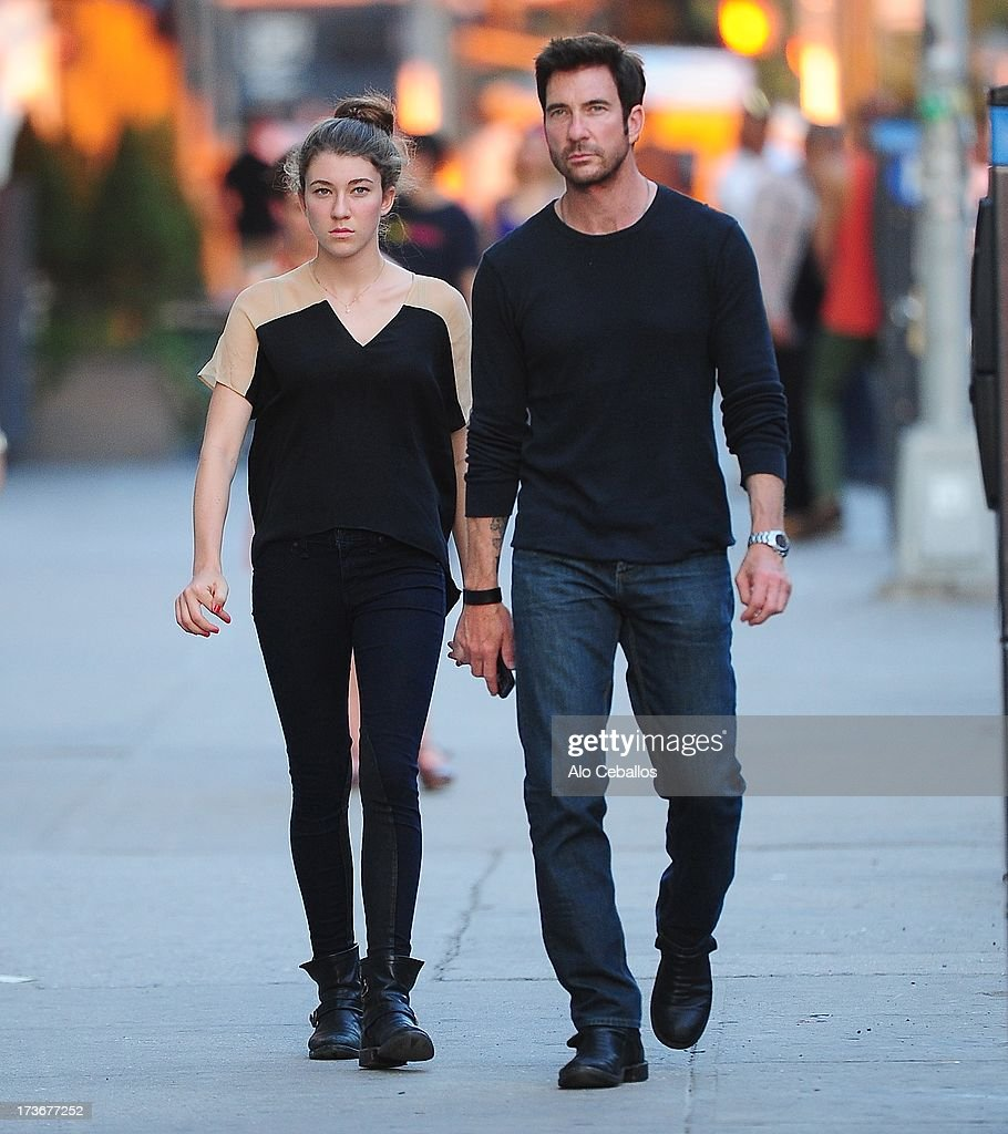 Dylan McDermott and Colette McDermott are seen in the Meat Packing District on July 16, 2013 in New York City.