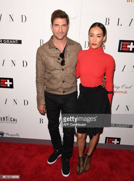Dylan McDermott and Maggie Q attend the premiere of 'Blind' at Landmark Sunshine Cinema on June 26 2017 in New York City / AFP PHOTO / ANGELA WEISS