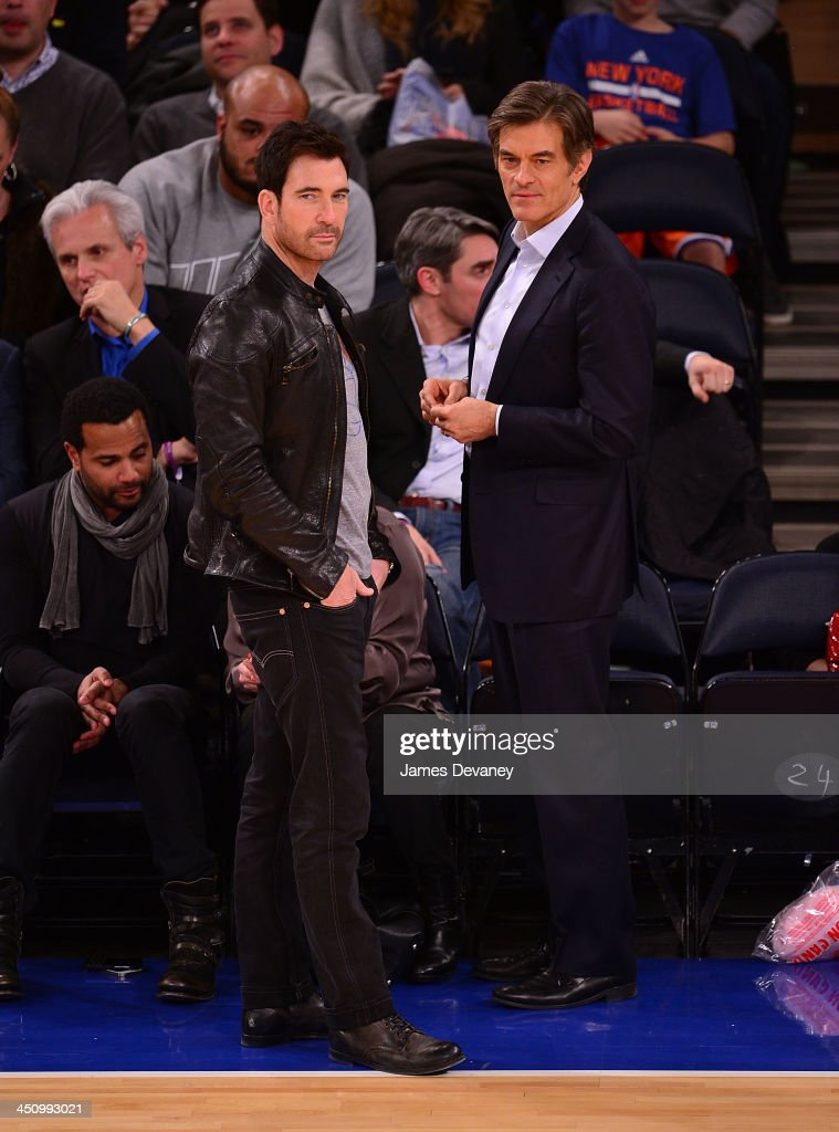 <a gi-track='captionPersonalityLinkClicked' href=/galleries/search?phrase=Dylan+McDermott&family=editorial&specificpeople=211496 ng-click='$event.stopPropagation()'>Dylan McDermott</a> and <a gi-track='captionPersonalityLinkClicked' href=/galleries/search?phrase=Mehmet+Oz&family=editorial&specificpeople=4175862 ng-click='$event.stopPropagation()'>Mehmet Oz</a> attend the Indiana Pacers vs New York Knicks game at Madison Square Garden on November 20, 2013 in New York City.