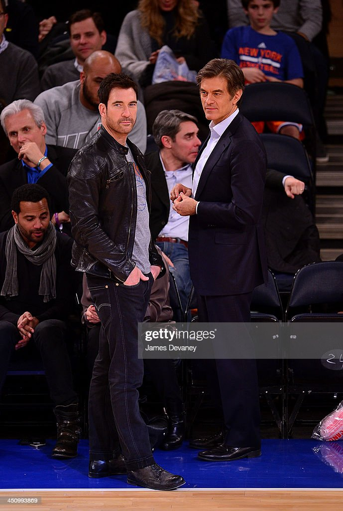 Dylan McDermott and Mehmet Oz attend the Indiana Pacers vs New York Knicks game at Madison Square Garden on November 20, 2013 in New York City.