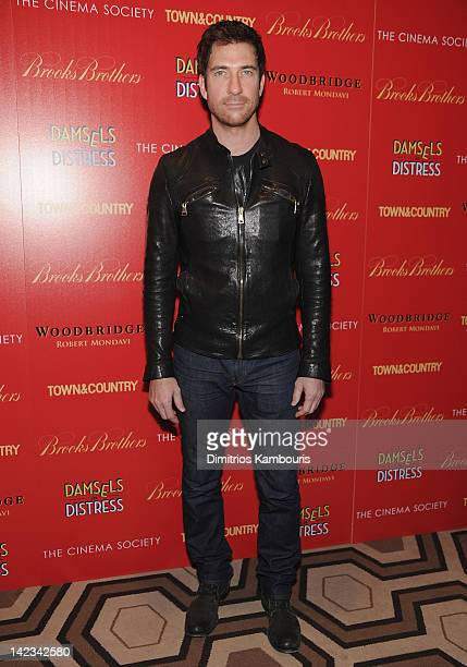 Dylan McDermott attends the Cinema Society with Town Country and Brooks Brothers screening of 'Damsels in Distress' at the Tribeca Grand Screening...
