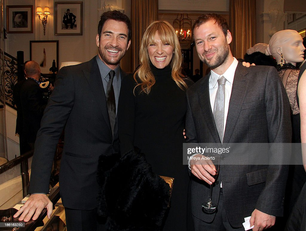<a gi-track='captionPersonalityLinkClicked' href=/galleries/search?phrase=Dylan+McDermott&family=editorial&specificpeople=211496 ng-click='$event.stopPropagation()'>Dylan McDermott</a>, <a gi-track='captionPersonalityLinkClicked' href=/galleries/search?phrase=Toni+Collette&family=editorial&specificpeople=204673 ng-click='$event.stopPropagation()'>Toni Collette</a> and Dave Galafassi attend Ralph Lauren Presents Exclusive Screening Of Hitchcock's To Catch A Thief Celebrating The Princess Grace Foundation at Ralph Lauren Women's Store on October 28, 2013 in New York City.