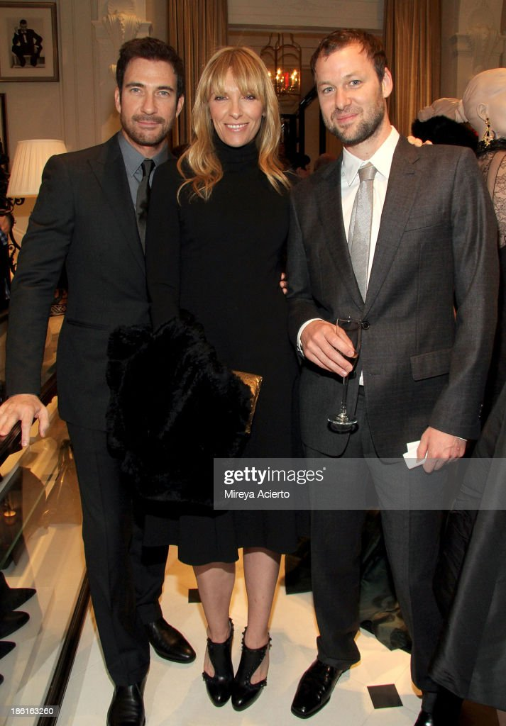 Dylan McDermott, Toni Collette and Dave Galafassi attend Ralph Lauren Presents Exclusive Screening Of Hitchcock's To Catch A Thief Celebrating The Princess Grace Foundation at Ralph Lauren Women's Store on October 28, 2013 in New York City.