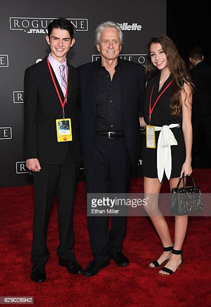 Dylan Michael Douglas actor Michael Douglas and Carys Zeta Douglas attend the premiere of Walt Disney Pictures and Lucasfilm's 'Rogue One A Star Wars...